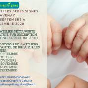 Ateliers bébés signes à Savenay et St Etienne de Montluc – de Septembre à Décembre 2020